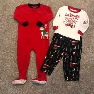 Carter's Christmas Fleece Pajama Bundle